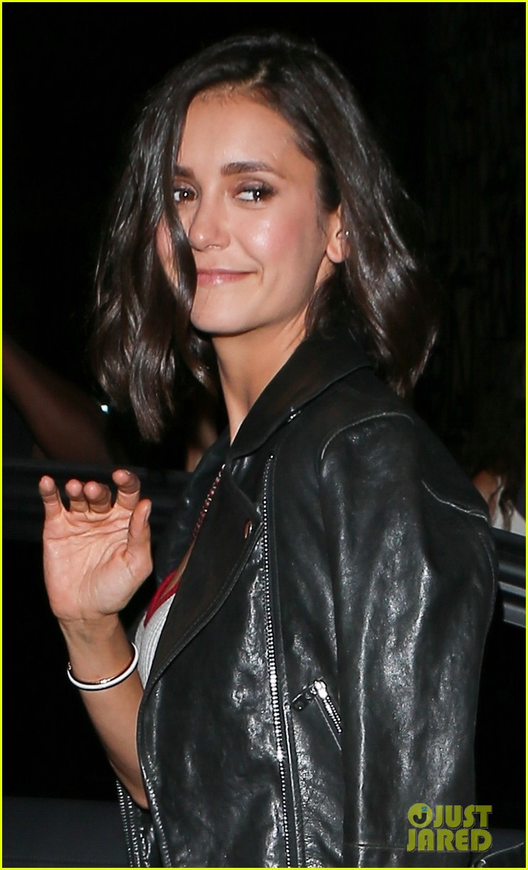 nina dobrev keeps it comfy and trendy for night out at craigs 033940878