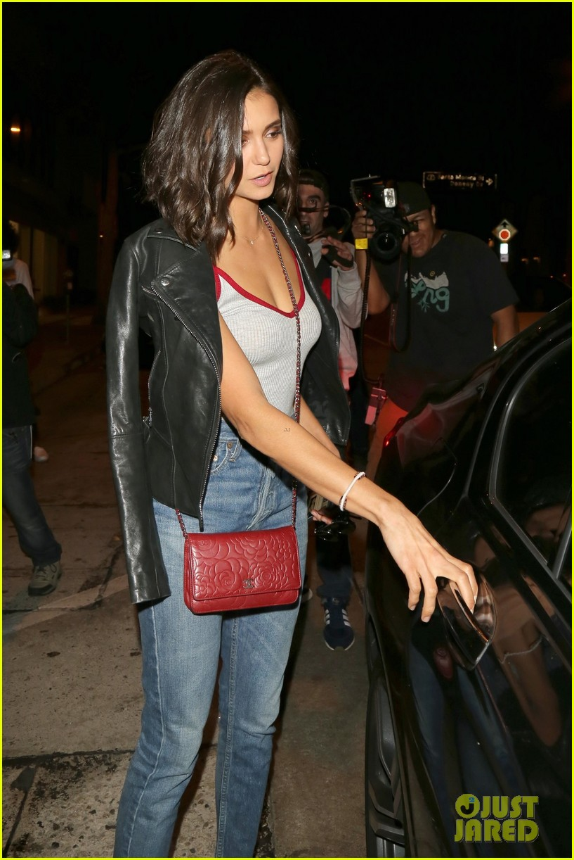 nina dobrev keeps it comfy and trendy for night out at craigs 073940882