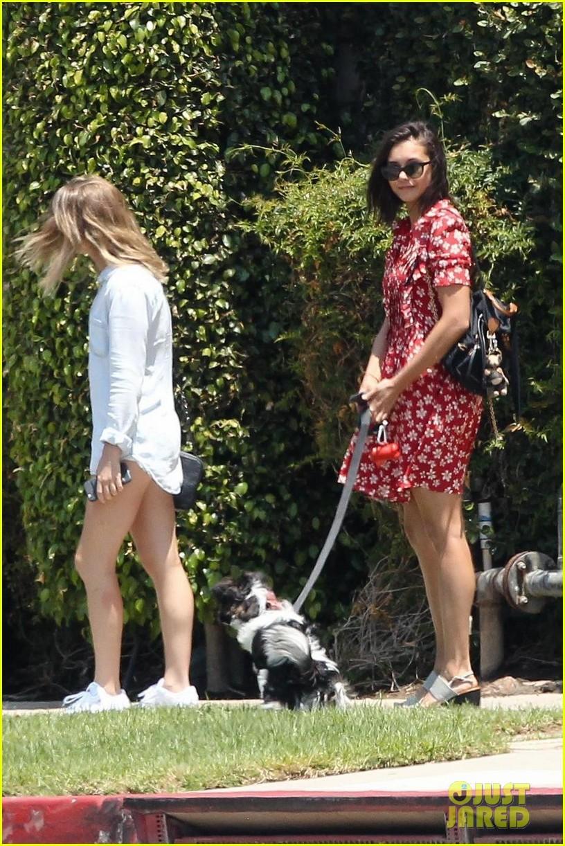 nina dobrev walks her dog maverick 053938863