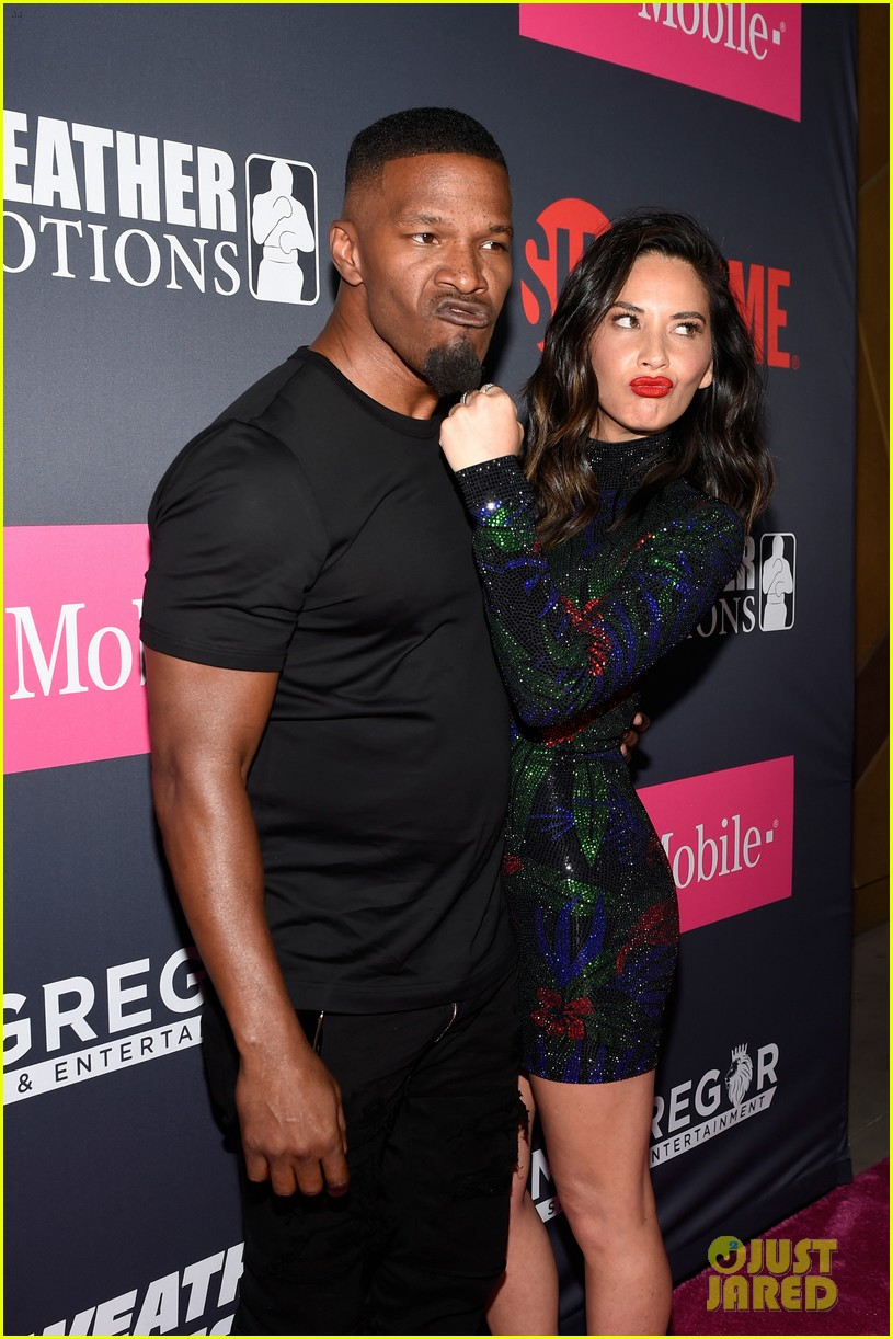 jamie foxx and olivia munn tons of other celebs attend mayweather mcgregor fight 013946089