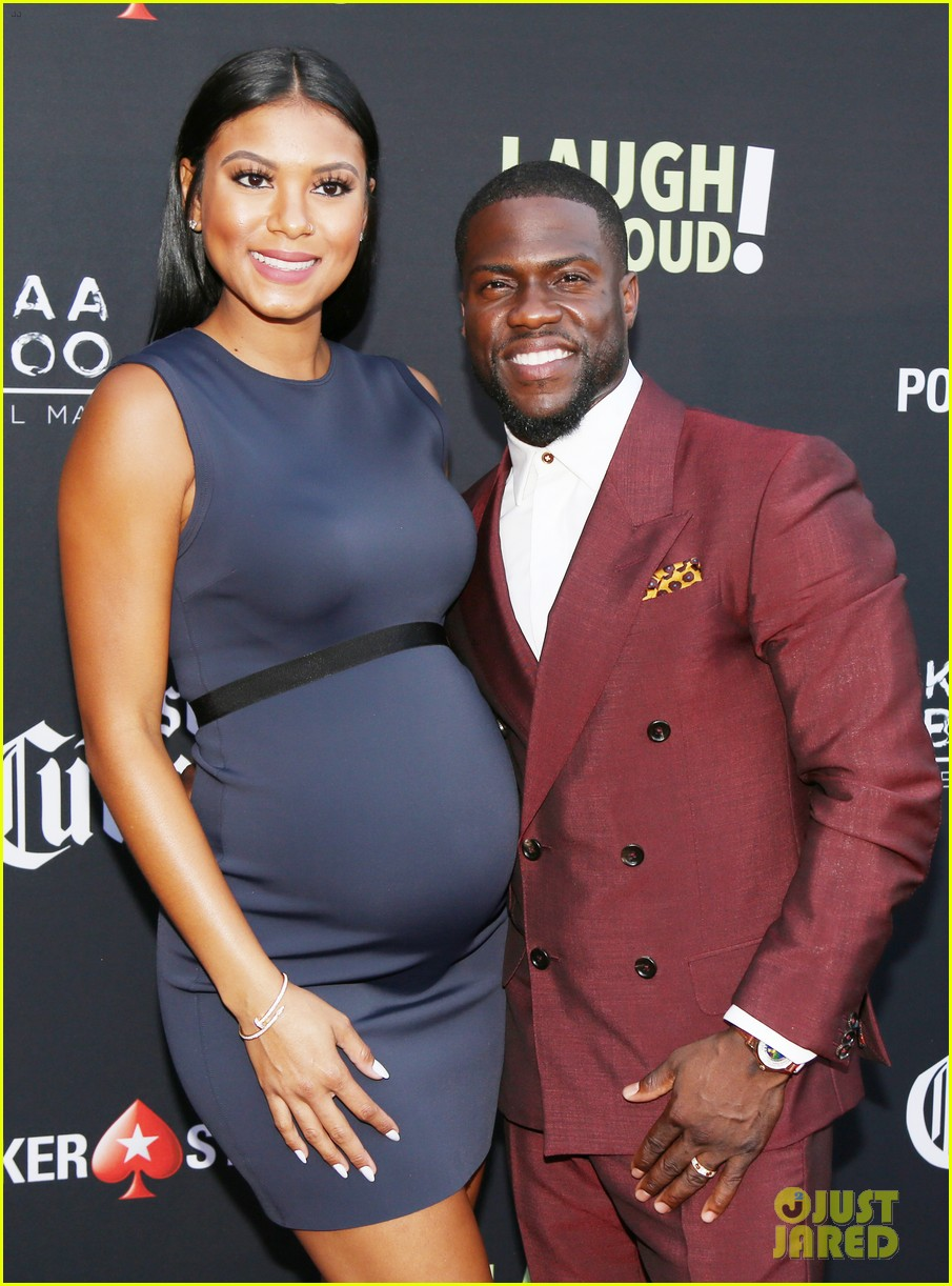 kevin hart pregnant wife eniko parrish celebrate laugh out loud launch 023937801