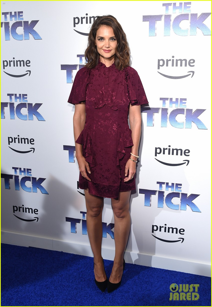 katie holmes supports peter serafinowicz at the tick premiere 013942715
