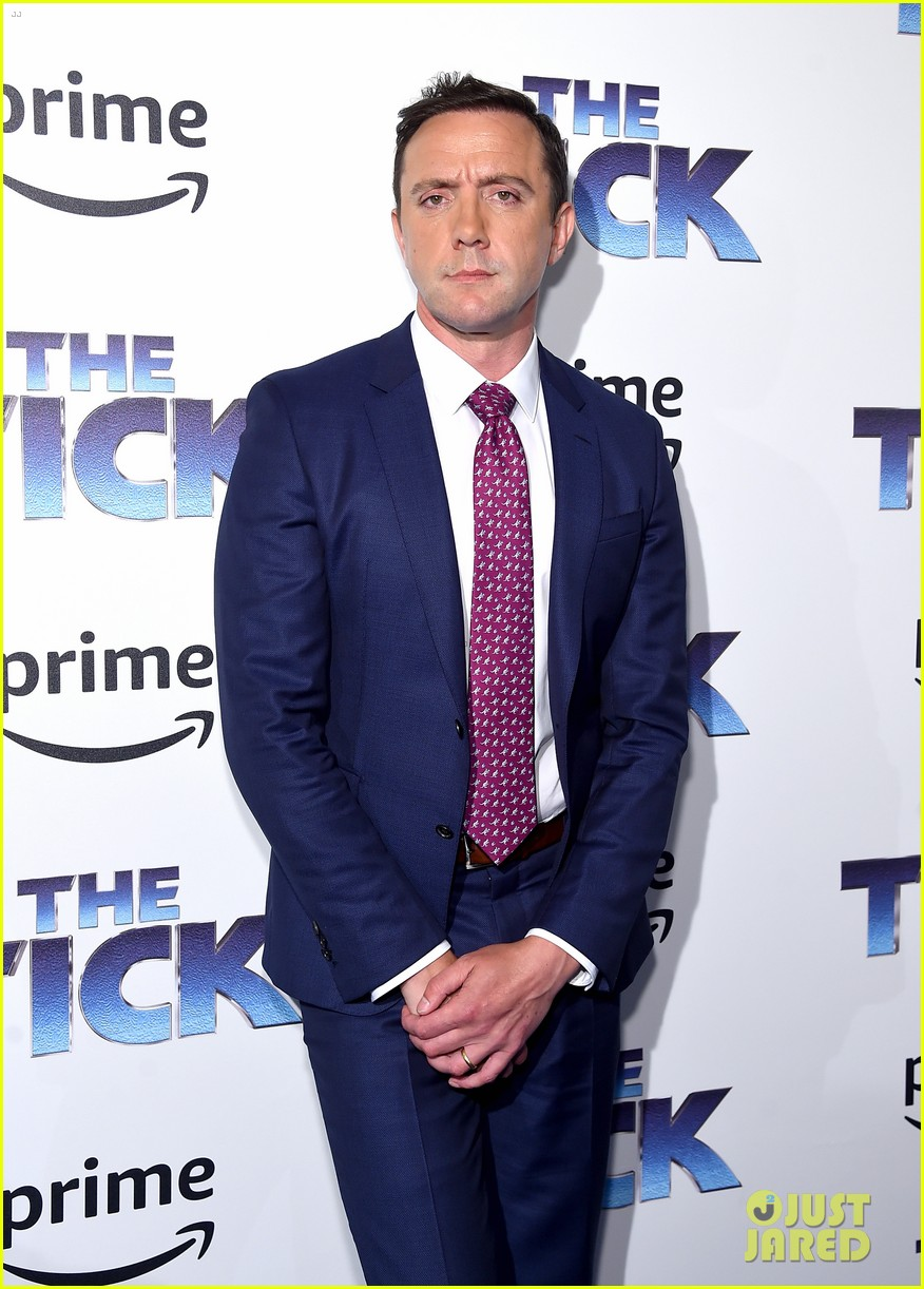 katie holmes supports peter serafinowicz at the tick premiere 033942717