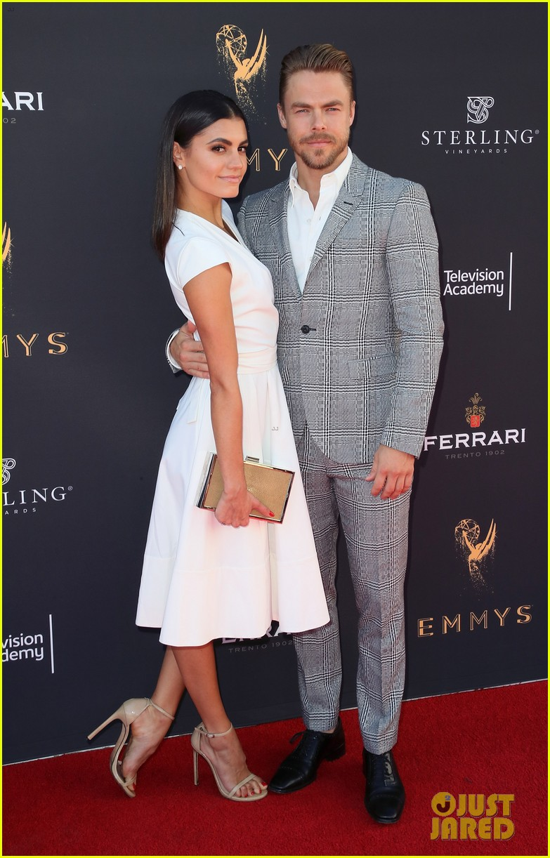 derek hough gets support from girlfriend hayley erbert at emmys choreography 033947449