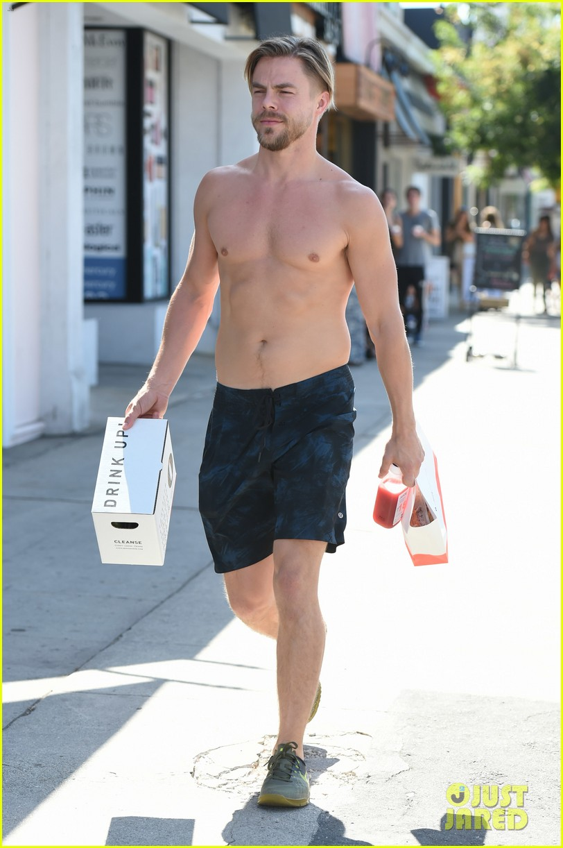 derek hough skips his shirt while shopping at a juice bar 163943462