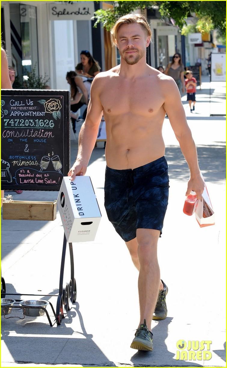derek hough skips his shirt while shopping at a juice bar 183943464