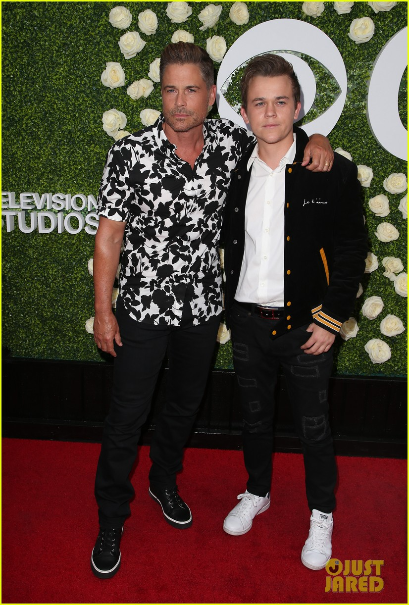rob lowe son matthew join young sheldon cast at cbs summer tca soiree 753936858