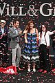will grace eric mccormack sean hayes celebrate first day on set with big kiss 33