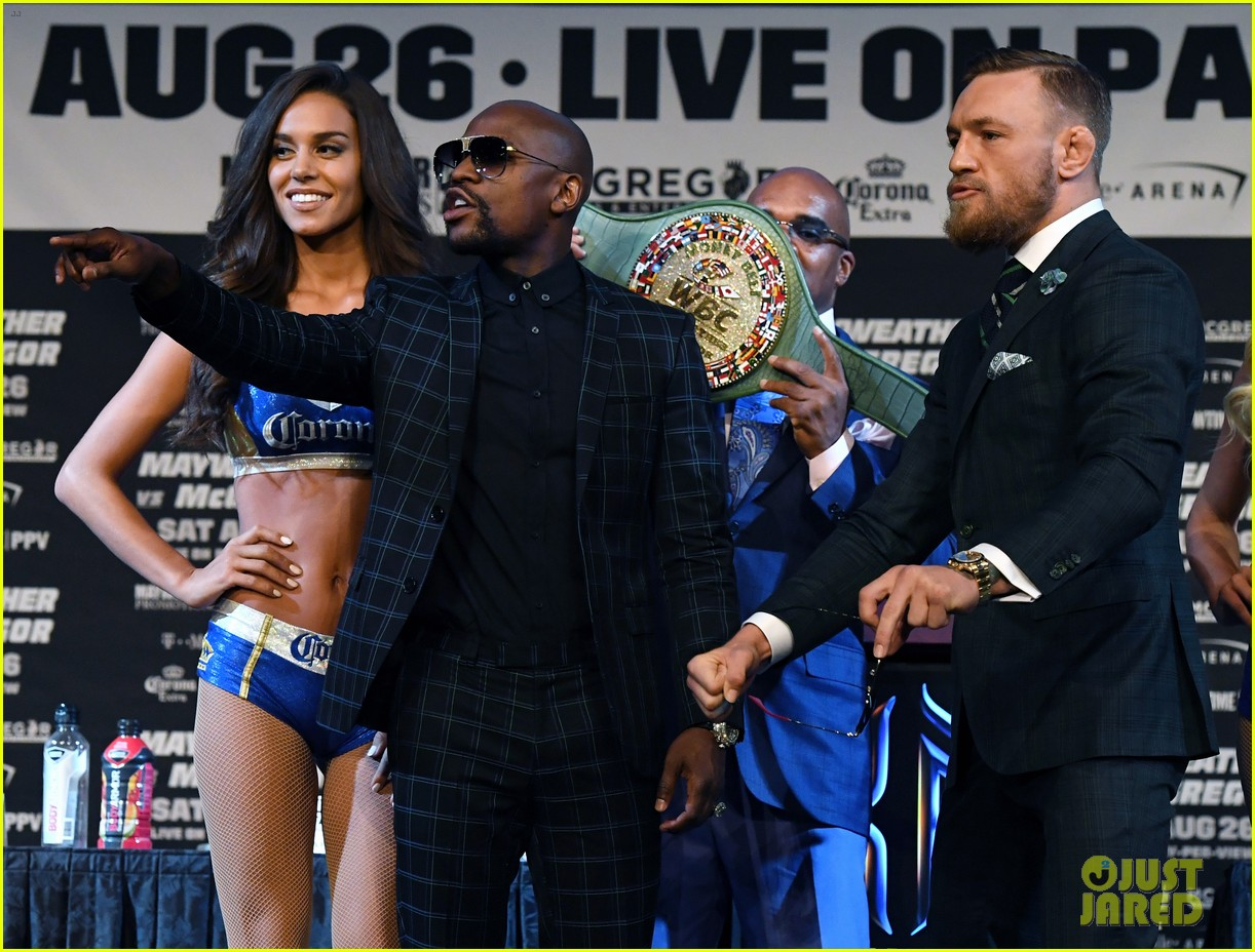 conor mcgregor floyd mayweather jr face off ahead of big match we are more than ready 133945115