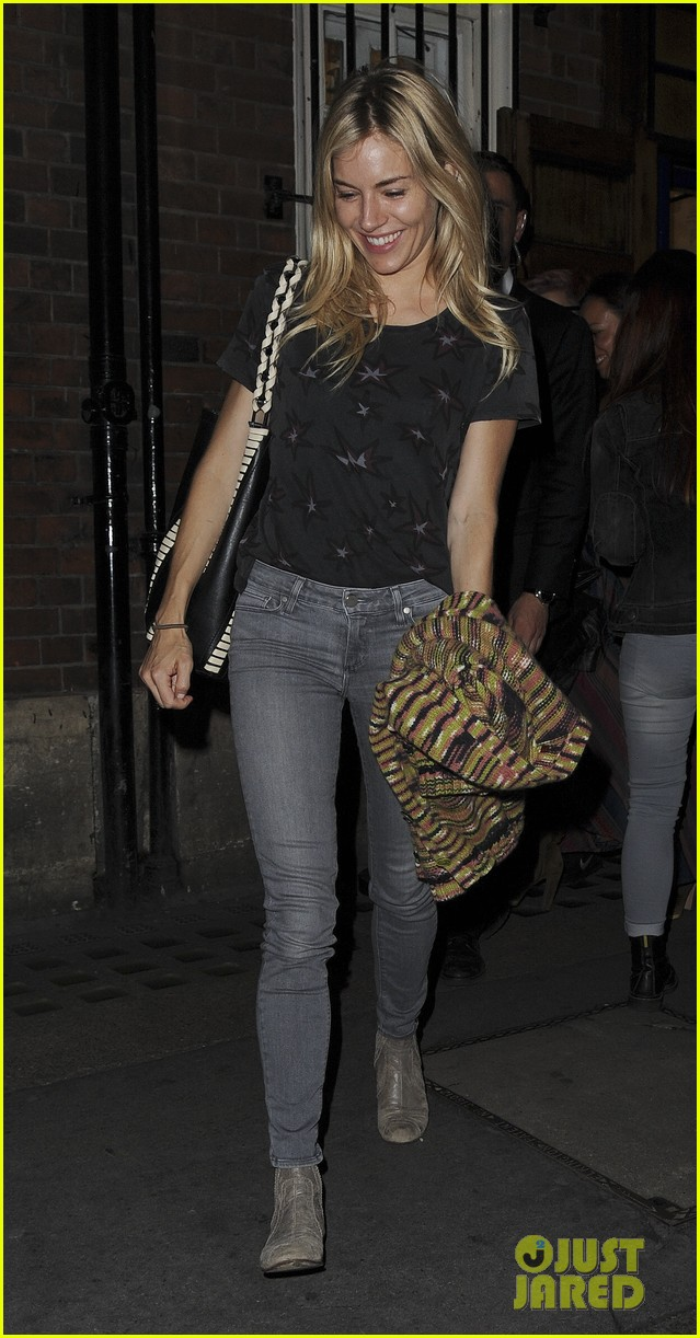 sienna miller is all smiles arriving at dinner in london 113940624