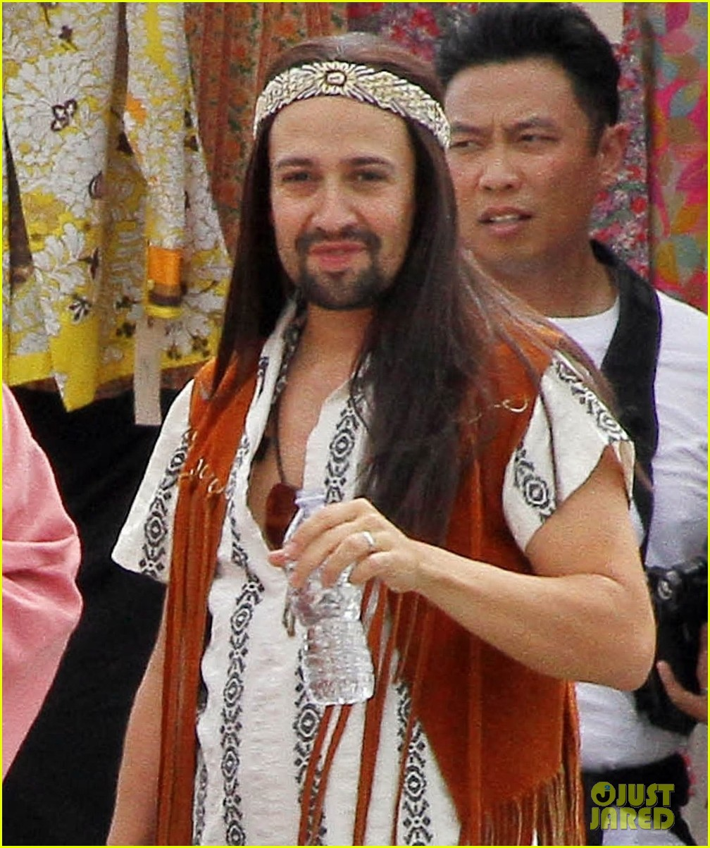 lin manuel miranda james corden go shirtless for crosswalk the musical 103942323