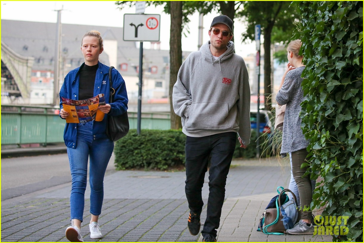 robert pattinson hangs out with co star mia goth in germany 03