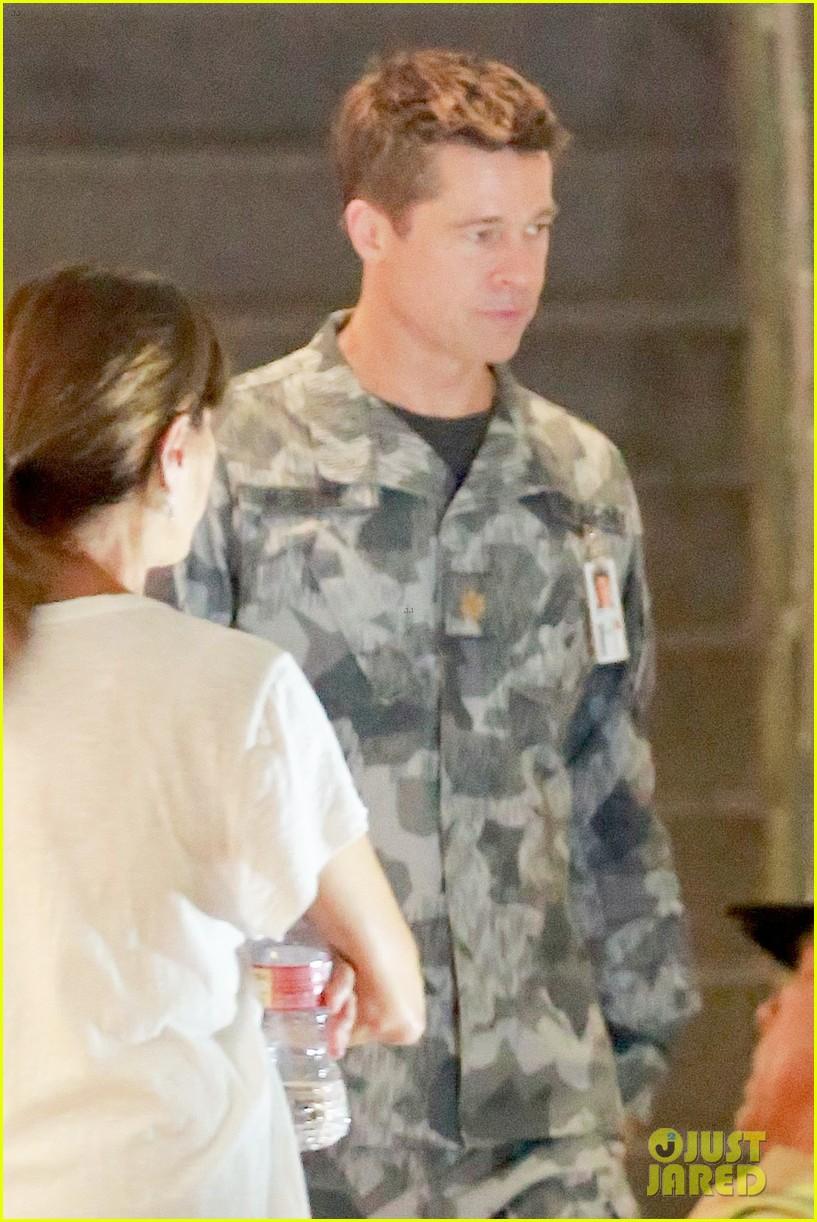 brad pitt dons army uniform for new mvie ad adstra 04
