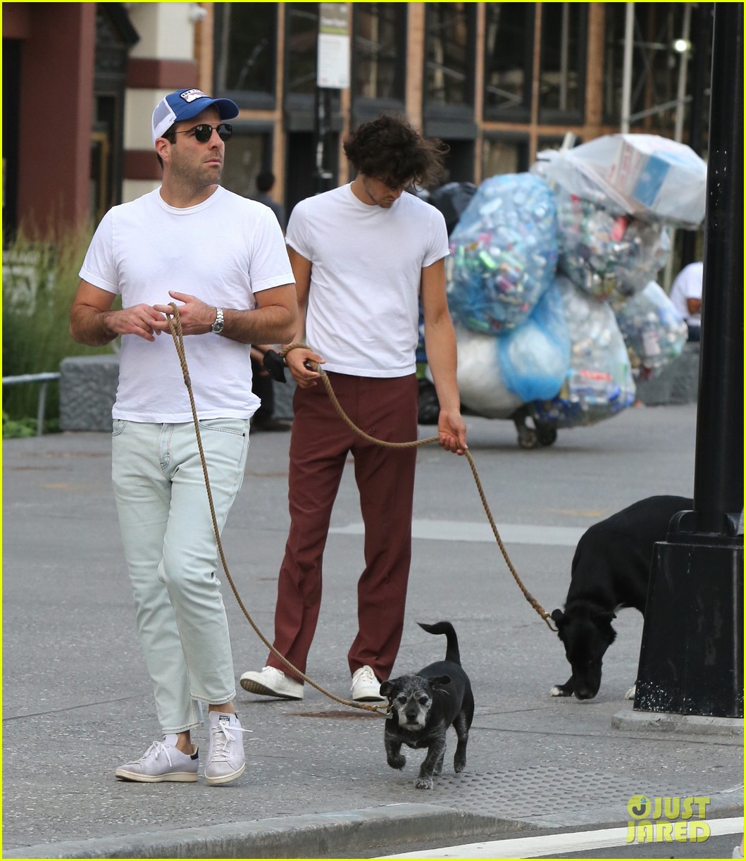zachary quinto miles mcmillan are all smiles during their dog walk 013947626