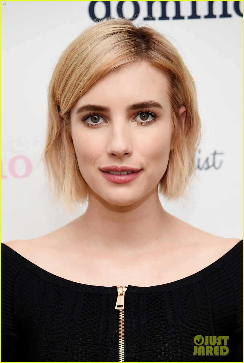 Emma Roberts Debuts New Blonde Bob Haircut Photo 3938002 Emma