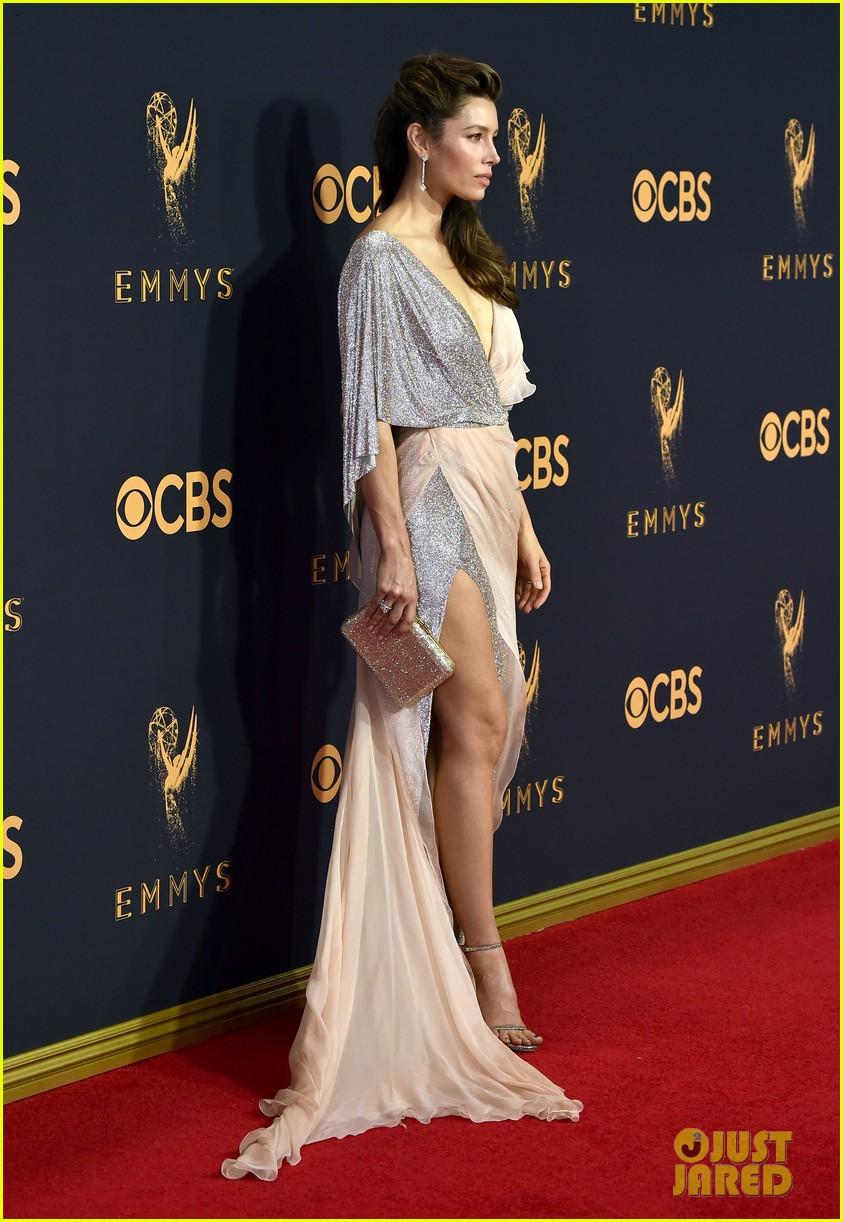 Critics Choice Awards 2018 >> Jessica Biel Shows Some Leg at Emmys 2017: Photo 3959096 ...