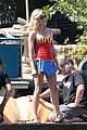 julie bowen dresses as wonder woman paddles in bread bowl canoe 09