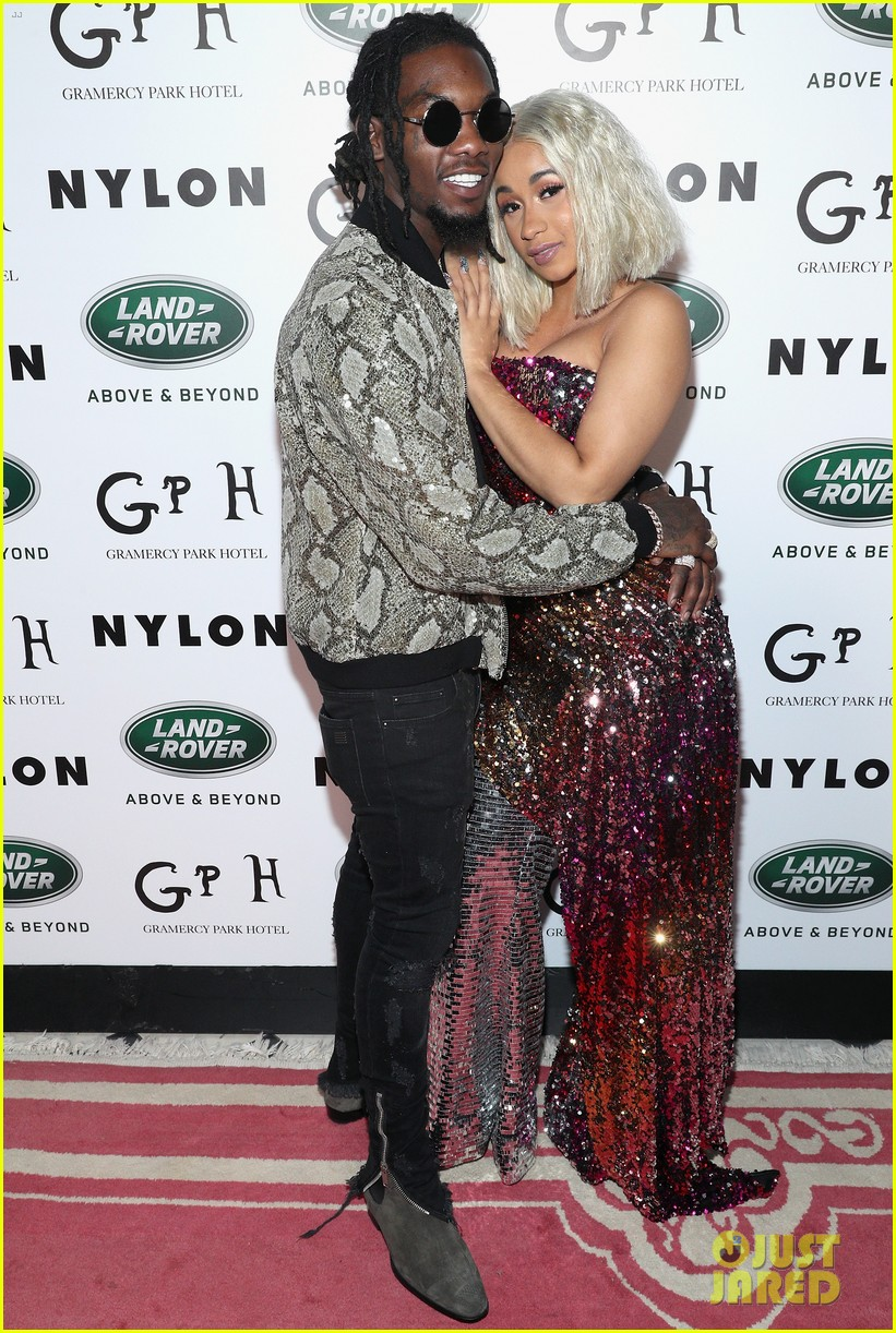 cardi b offset couple up at new york fashion week events 283956184