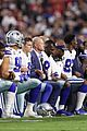 dallas cowboys take a knee during national anthem 01