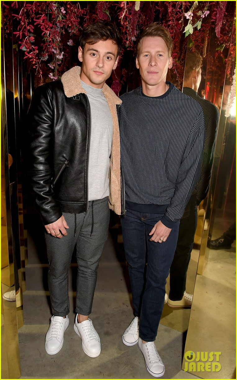 tom daley dustin lance black couple up at michael kors party 163962262