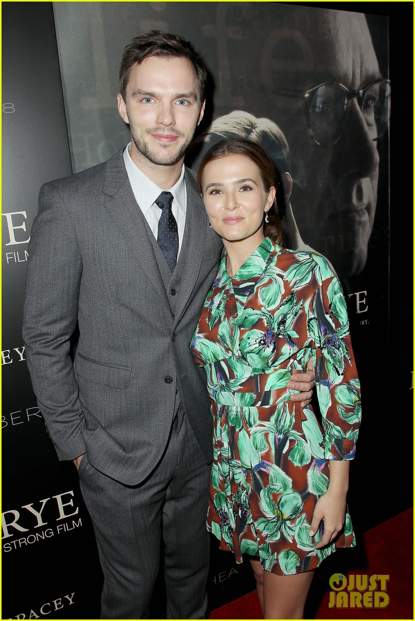 zoey deutch and nicholas hoult premiere rebel in the rye in nyc 033951345