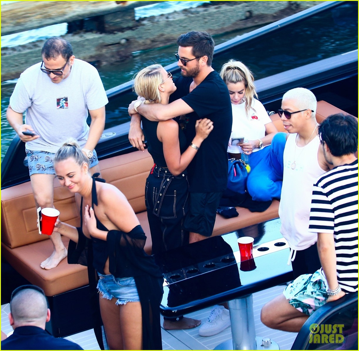 scott disick and sofia richie flaunt pda on a boat with friends2 013963279