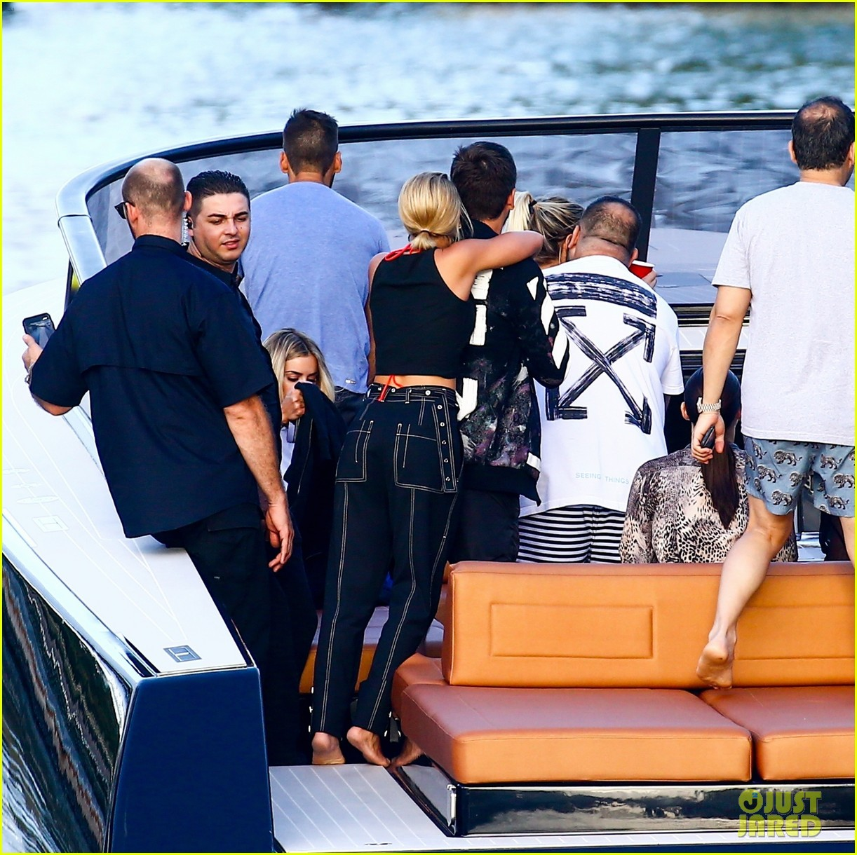 scott disick and sofia richie flaunt pda on a boat with friends2 043962984