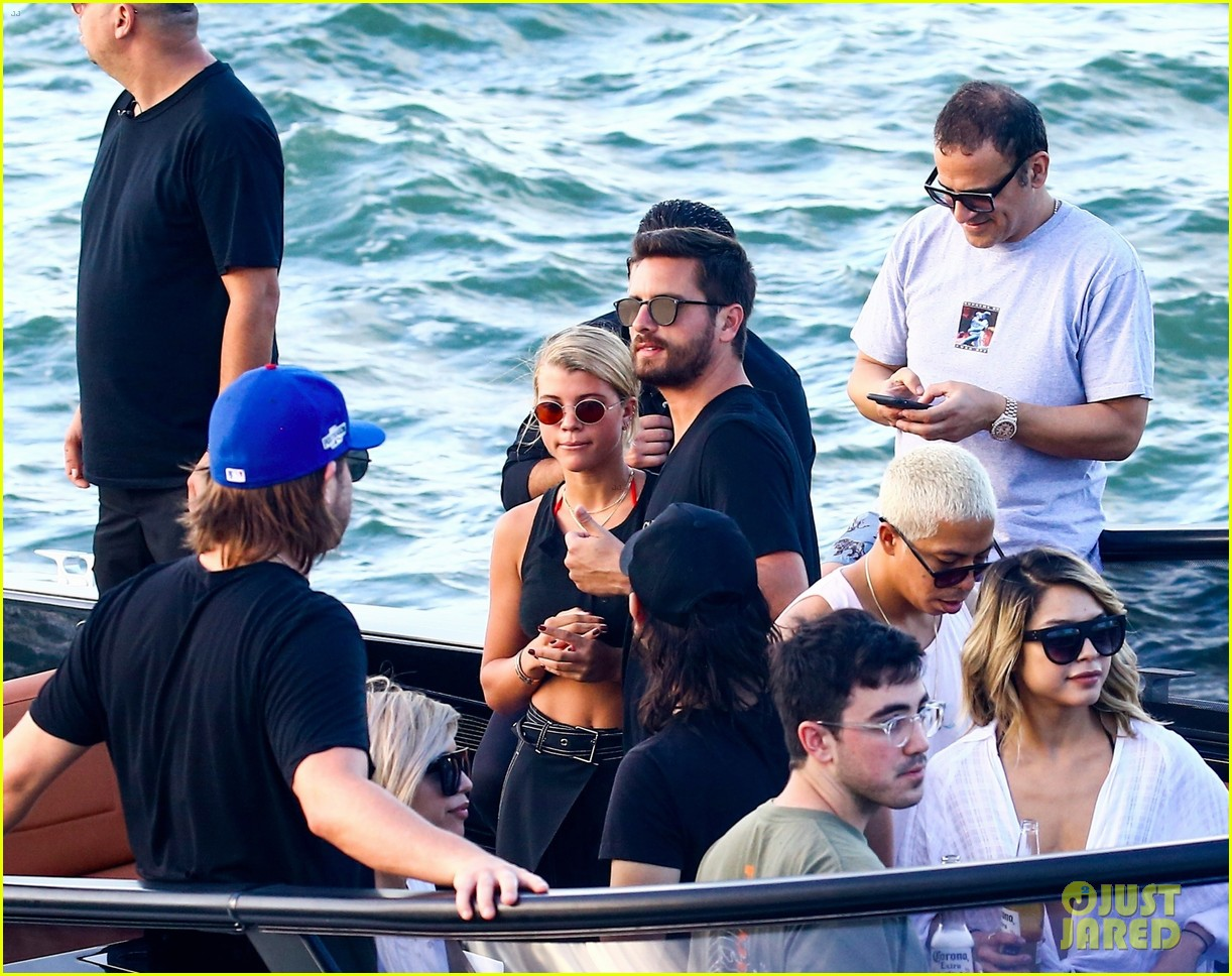 scott disick and sofia richie flaunt pda on a boat with friends2 053963283