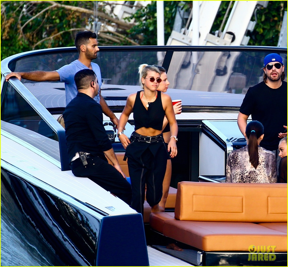 scott disick and sofia richie flaunt pda on a boat with friends2 063962986