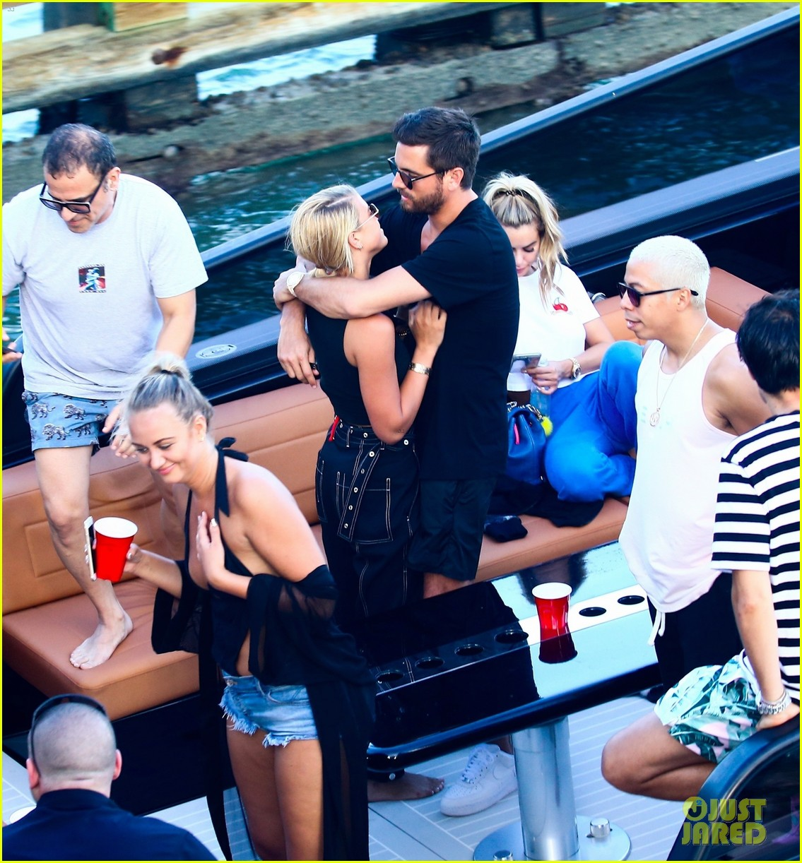 scott disick and sofia richie flaunt pda on a boat with friends2 093962989