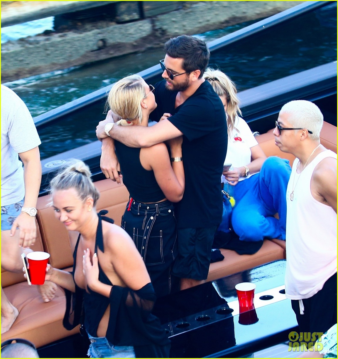 scott disick and sofia richie flaunt pda on a boat with friends2 103962990