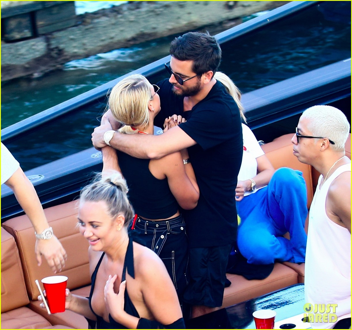scott disick and sofia richie flaunt pda on a boat with friends2 163962996