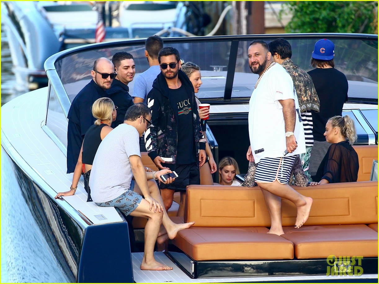 scott disick and sofia richie flaunt pda on a boat with friends2 183963296