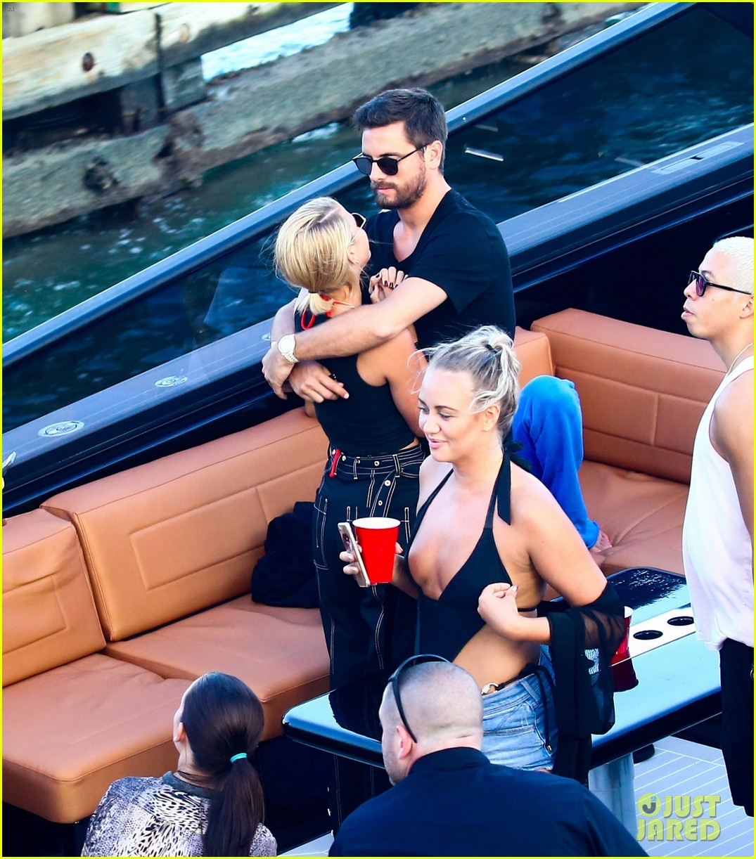 scott disick and sofia richie flaunt pda on a boat with friends2 193962999