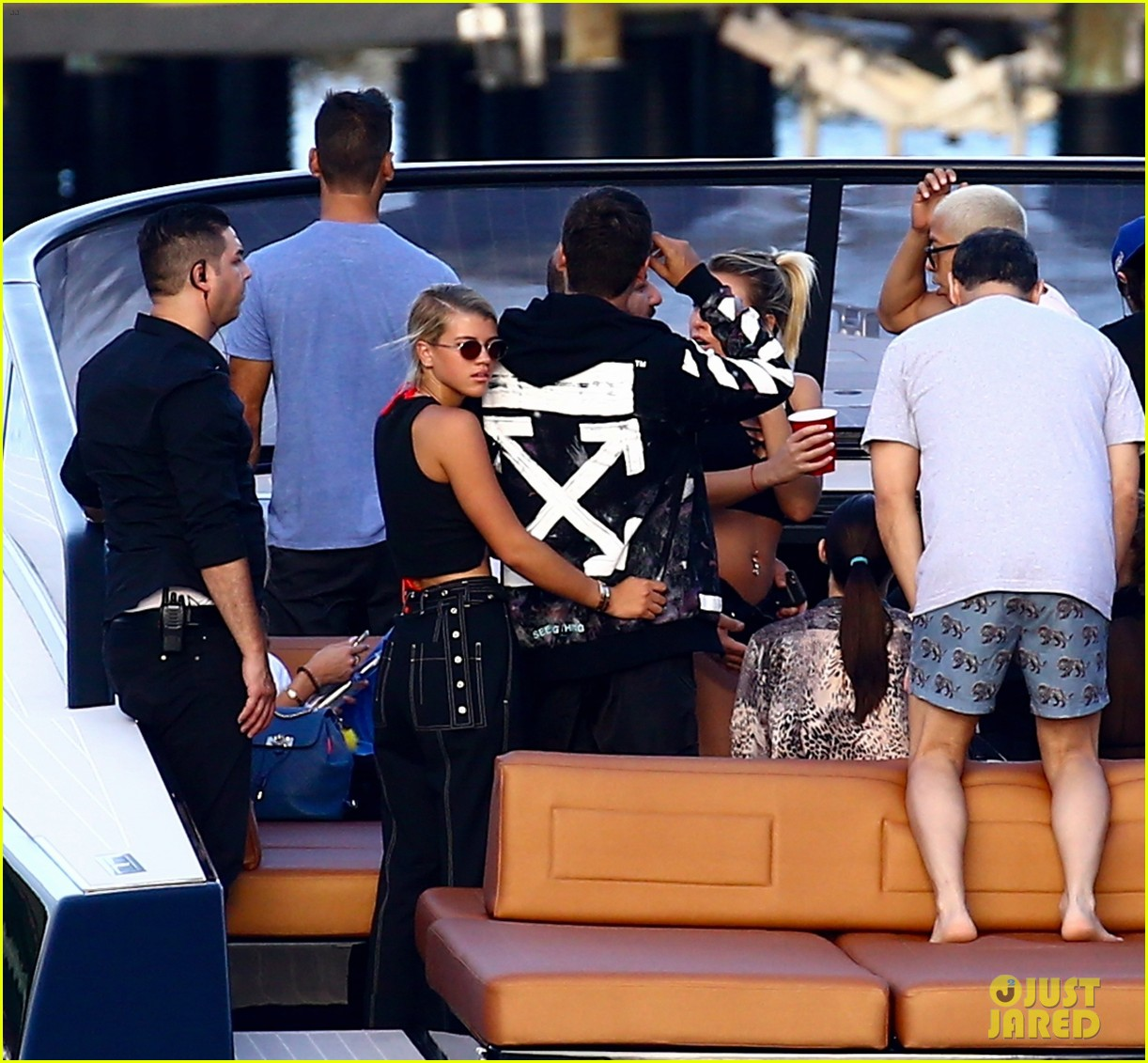 scott disick and sofia richie flaunt pda on a boat with friends2 253963303