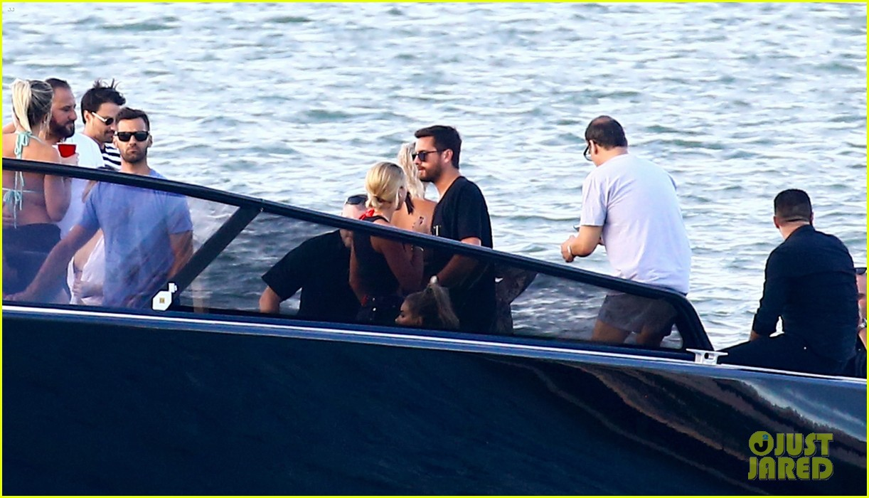 scott disick and sofia richie flaunt pda on a boat with friends2 303963308