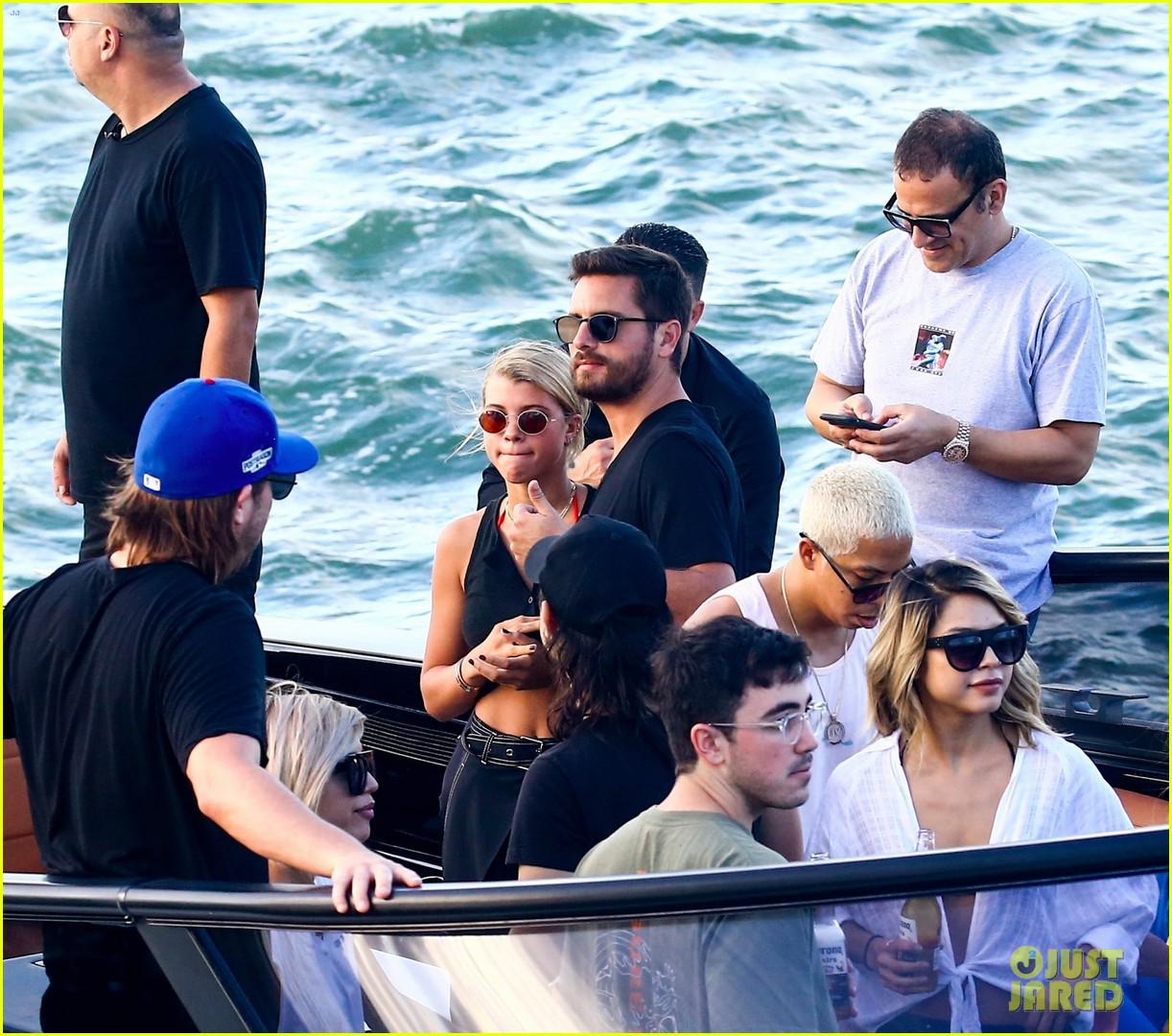 scott disick and sofia richie flaunt pda on a boat with friends2 363963016