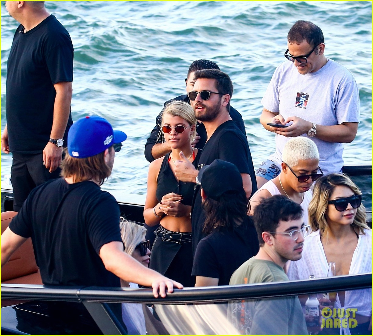 scott disick and sofia richie flaunt pda on a boat with friends2 373963315