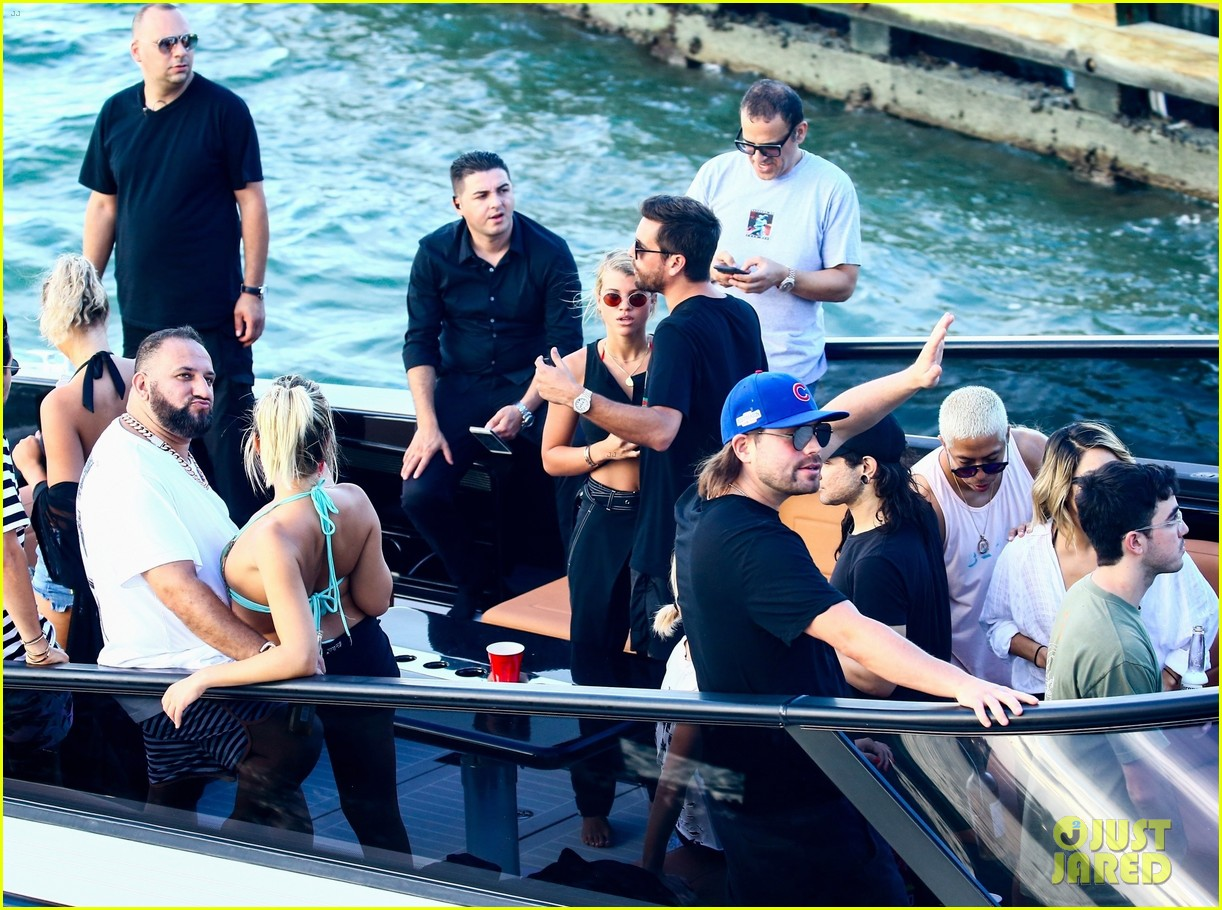 scott disick and sofia richie flaunt pda on a boat with friends2 423963320