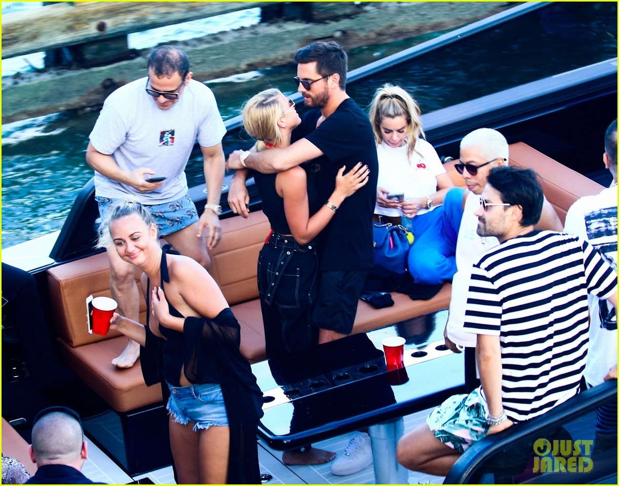 scott disick and sofia richie flaunt pda on a boat with friends2 443963322