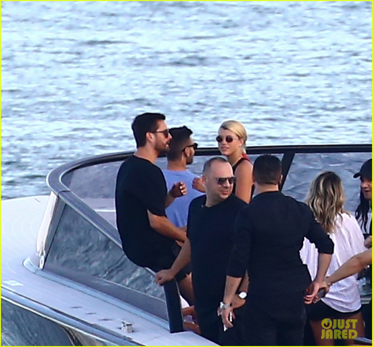 scott disick and sofia richie flaunt pda on a boat with friends2 553963035