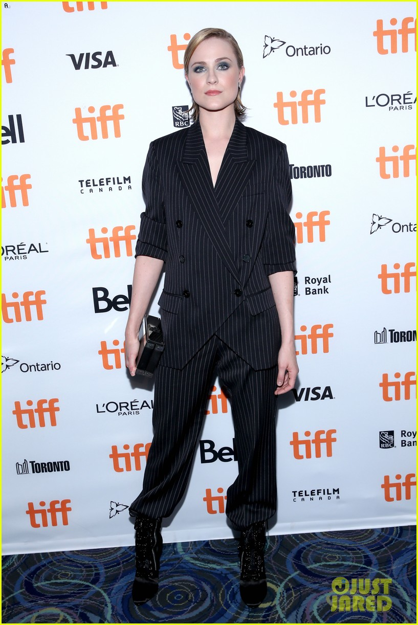 evan rachel wood suits up for toronto film festival premiere 013955310