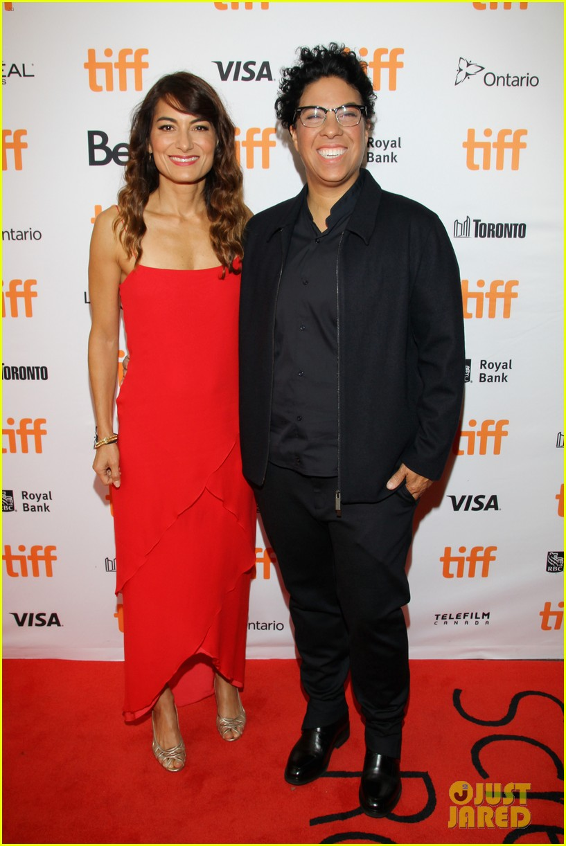 luke evans wonder woman bella heathcote joins him at tiff premiere 063956104