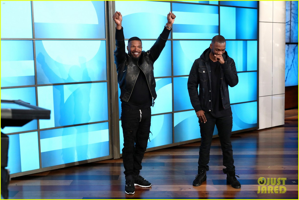 jamie foxx jay pharoah play the impressions game on ellen 013965708