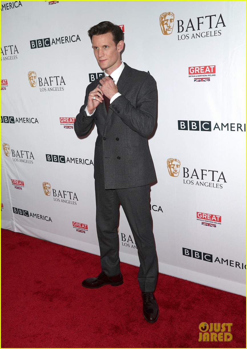 claire foy matt smith step out for bafta tea party 113958570
