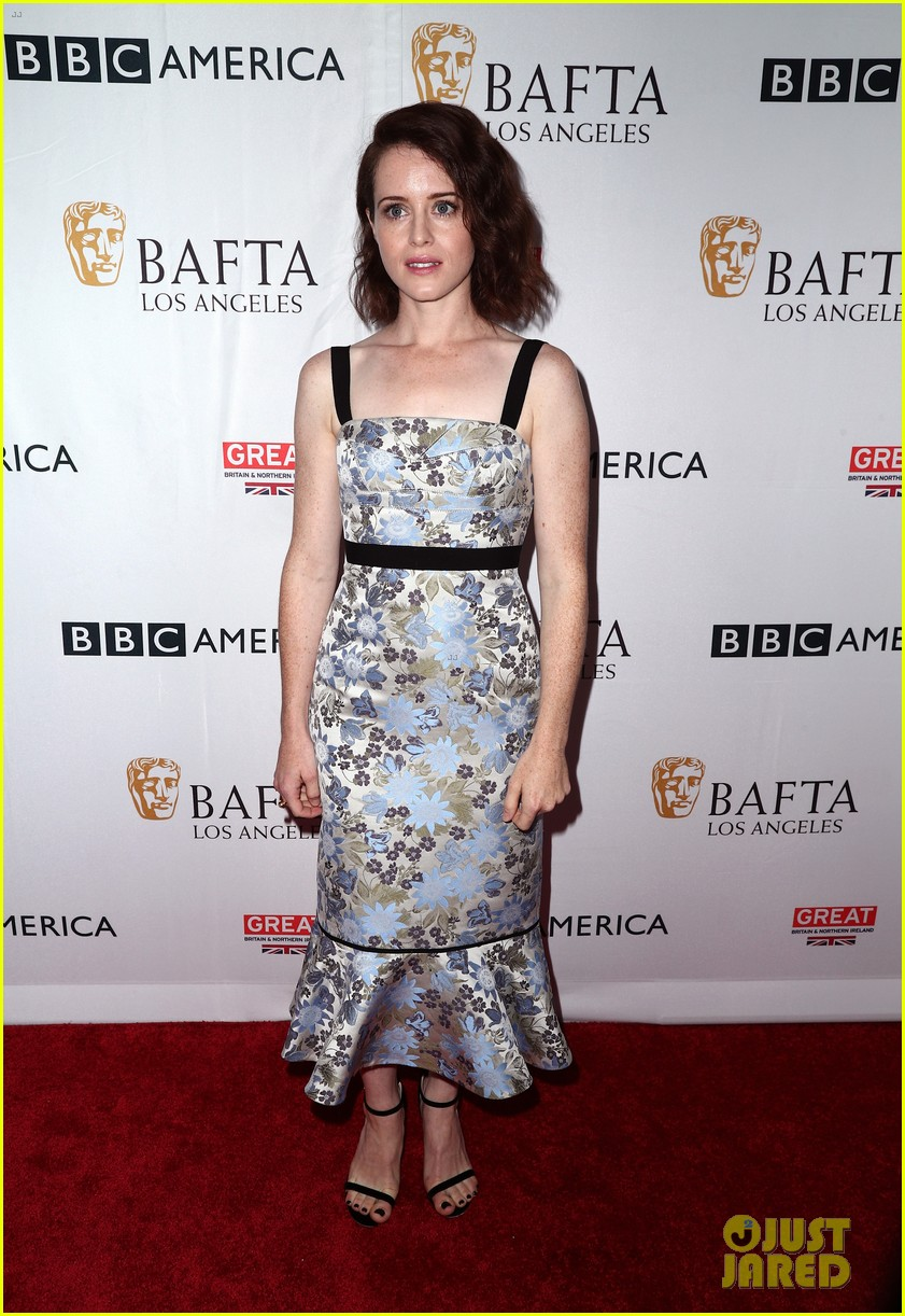claire foy matt smith step out for bafta tea party 143958573
