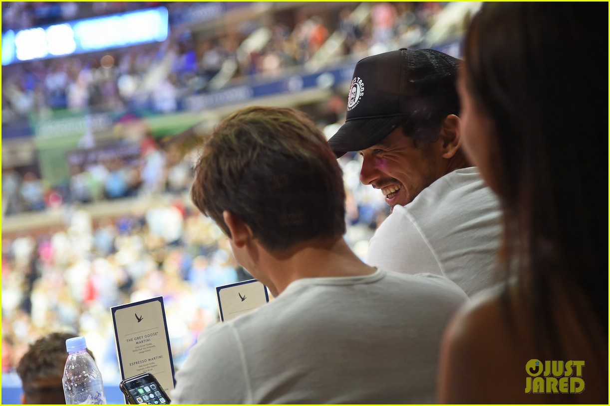 james franco kevin zegers hang out at us open 013950290