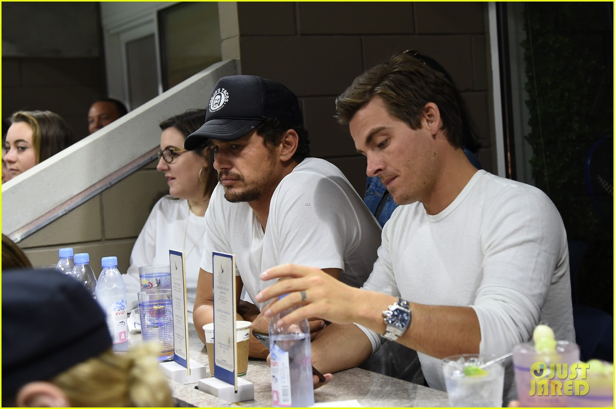 james franco kevin zegers hang out at us open 043950293
