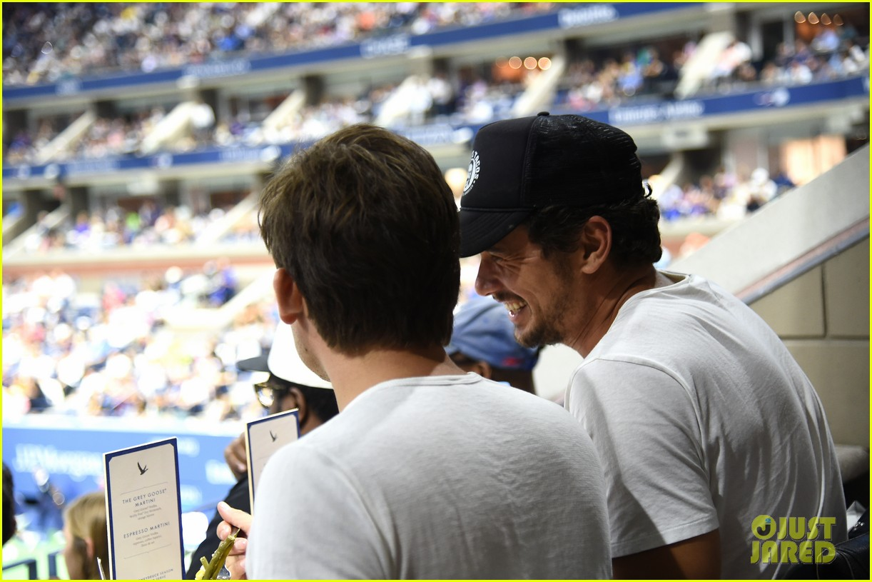 james franco kevin zegers hang out at us open 053950294