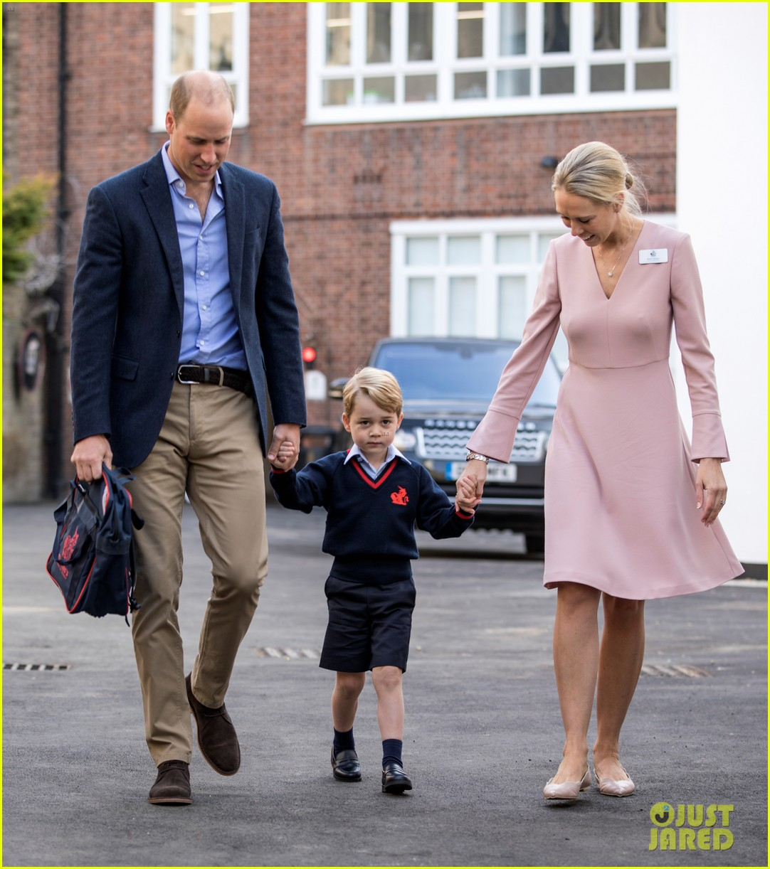 prince george arrives for first day of school 013951731